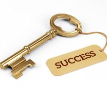Photo: success connected to a skeleton key
