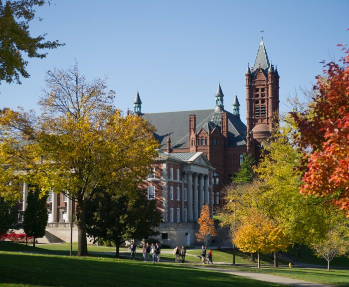 Photo: Fall Campus Crouse Maxwell Exterior
