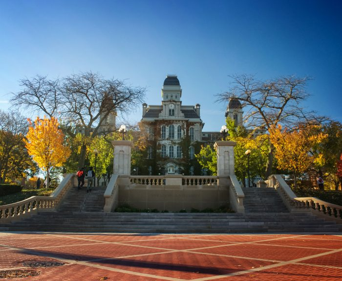 Photo: Hall of Languages in the fall