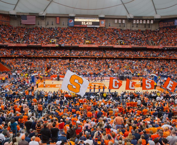 Photo: The Dome basketball event with CUSE flags