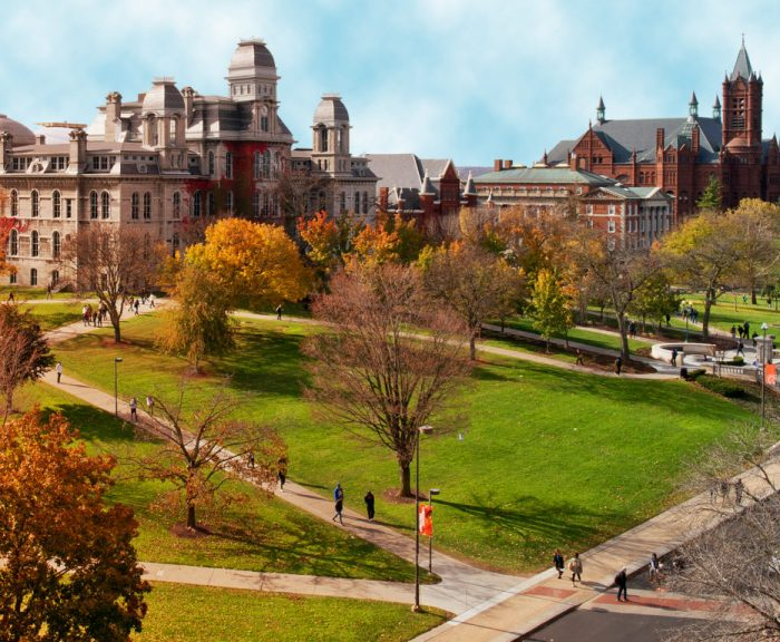 Photo: Syracuse University campus in fall