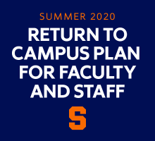 The words: return to campus plan for faculty and staff