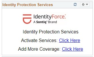 MySlice snapshot used to activate identity protection services and to add additional coverage.